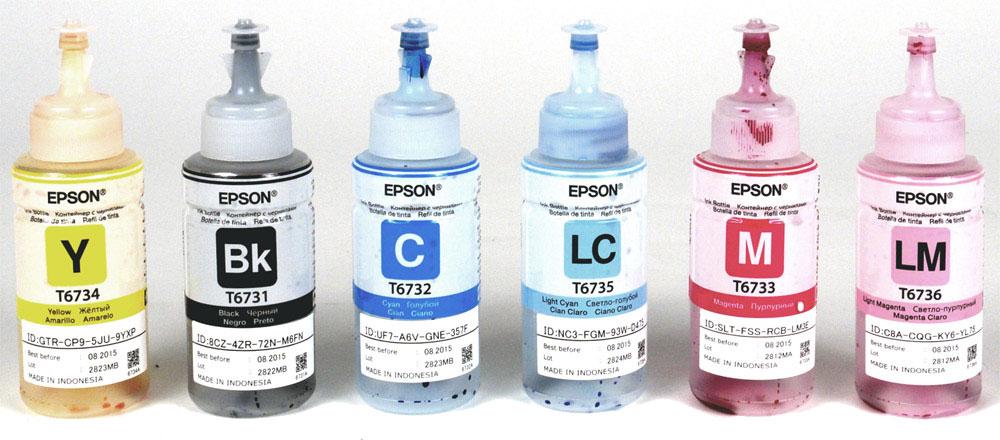 Оригинальные чернила для epson l805 70 мл 6 цветов купить